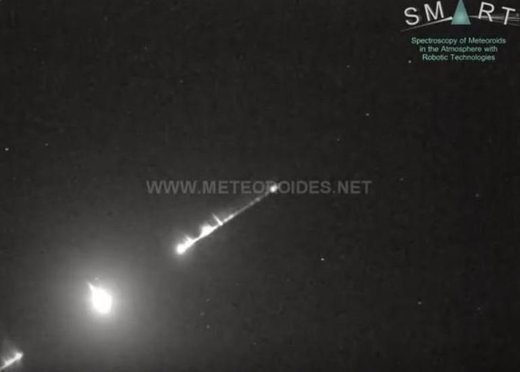 bolide over Spain