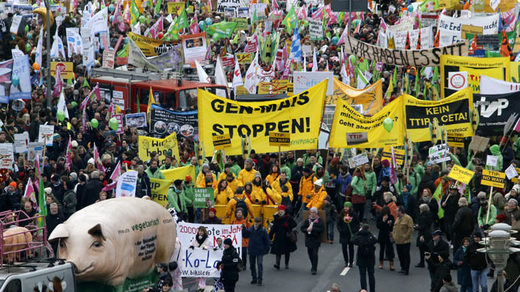 Thousands march against TTIP & GMOs in Berlin