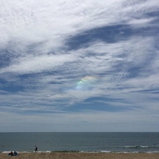 Circumzenithal arc over Bournemouth