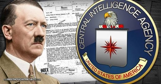 Adolf Hilter and CIA logo graphic