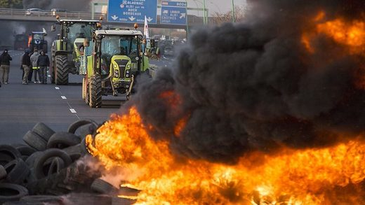 french farmers protest