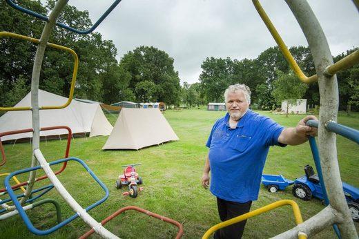 Camping Opende vakantie arme Nederlanders