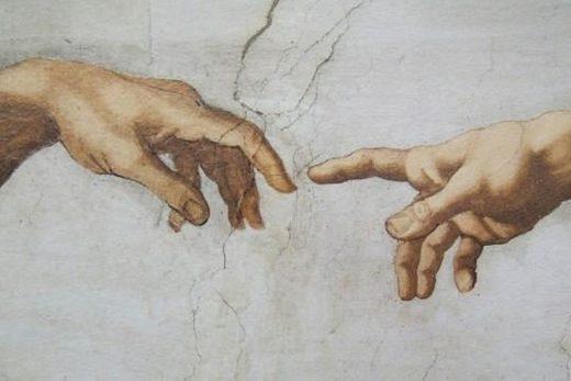 De Hand van God Michelangelo