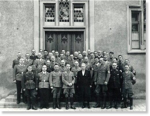 Nazi officials in front of the Ravensburg Town Hall